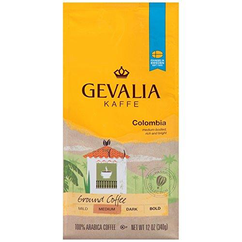 GEVALIA Colombian Coffee Medium Roast Ground 12 Ounce Pack of 6