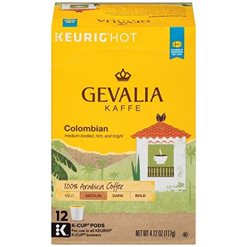 GEVALIA Colombian Medium Roast Coffee K-CUP Pods 12 count
