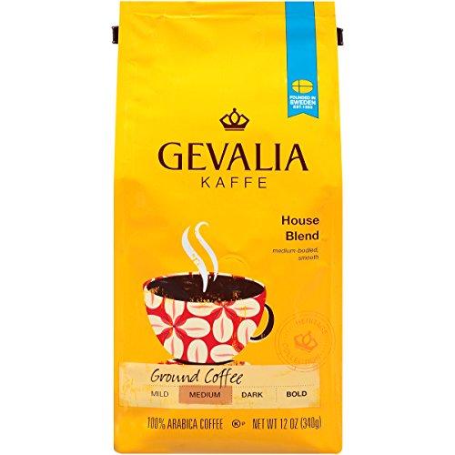 GEVALIA House Blend Coffee Medium Roast Ground 12 Ounce 6 Pack