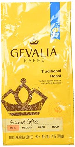 Gevalia Kaffe Traditional Roast Ground Coffee 12oz Bag Pack of 2