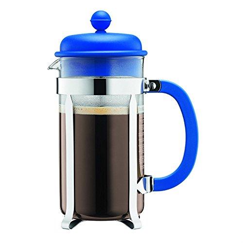Bodum French Press Coffee Maker w Plastic Lid - Blue - 3 cup035l12oz
