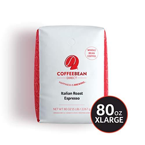 Coffee Bean Direct Italian Roast Espresso Whole Bean Coffee 5-Pound Bag