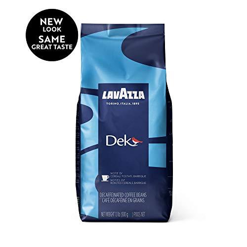 Lavazza Dek Whole Bean Coffee Blend Decaffeinated Dark Espresso Roast 11-Pound Bag