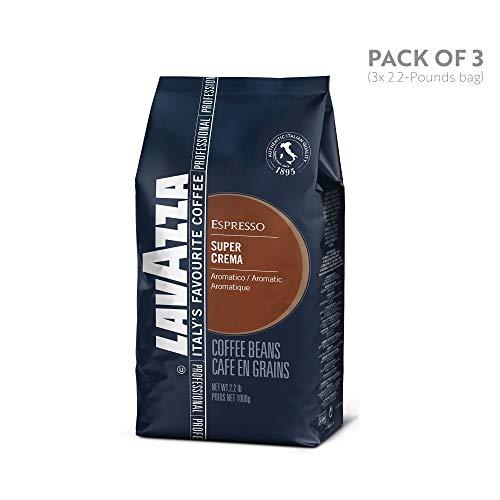 Lavazza Italian Super Crema Espresso Whole Bean Value Pack 3 x 22 lb bags