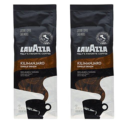 Lavazza Single Origin Premium Coffee Kilimanjaro 12 Ounce Pack of 2