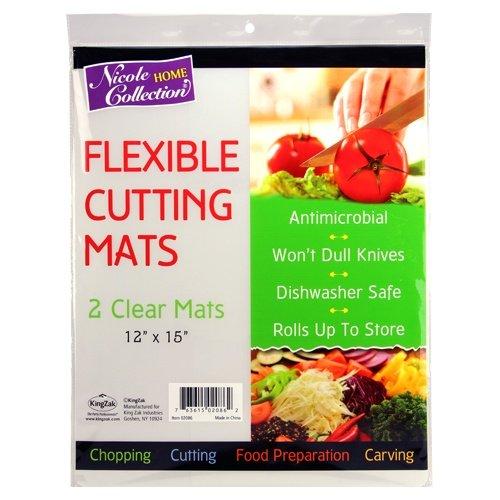 Flexible Plastic Cutting Board Mats set Clear Kitchen Cutting Board Set of 2 Clear Mats