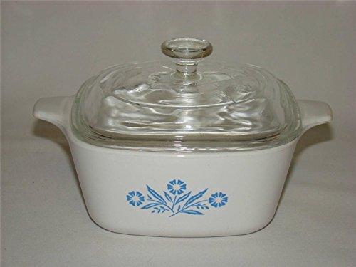 Vintage Corning Ware P-43-B Cornflower Casserole Baking Dish with Lid 275 cups