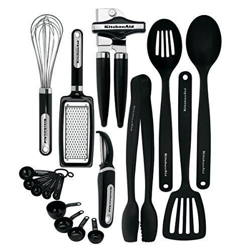 KitchenAid 17-Piece Tools and Gadget Set Black