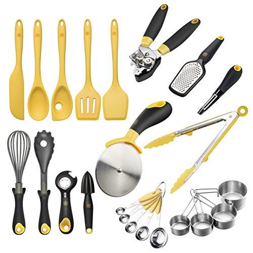 Zestkit Deluxe Silicone Cooking Utensils Set Nonstick Kitchen Gadgets 23 Pieces