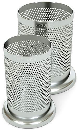 Jagurds Stainless Steel Kitchen Utensil Holder Caddy - Silverware Cutlery and Cooking Utensil Organizers