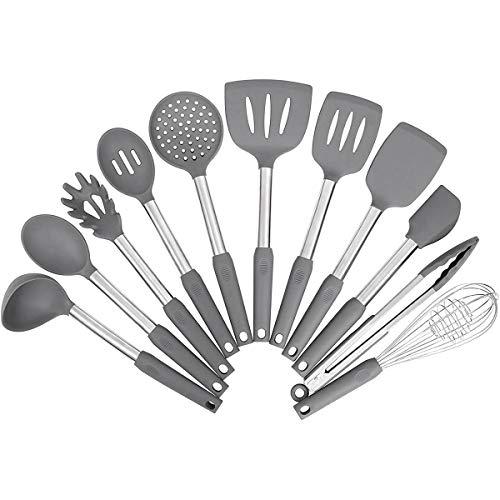 Kitchen Utensil SetSilicone Cooking UtensilsStainless Steel Kitchen Utensils SetSilicone Spatula Set Utensil SetSilicone Utensils Cooking Utensil SetKitchen Tools Gadgets