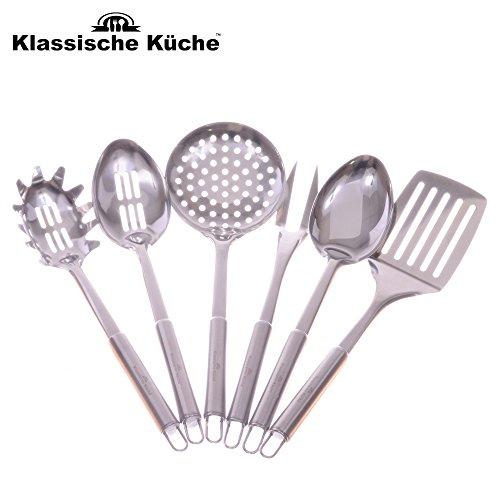 Klassische Kuche TM Professional Grade Stainless Steel Flatware 6 Piece Kitchen Tool and Gadget Set