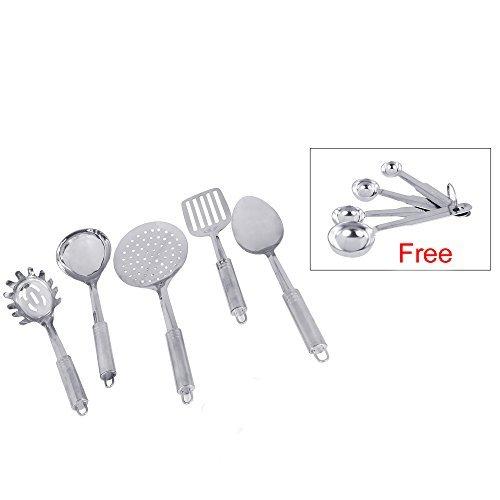 Kosma 5pc Stainless Steel Kitchen Tool Set 13 with 4pc Measuring Spoon Set 14 12 1 Tea Spoon 1 Table Spoon
