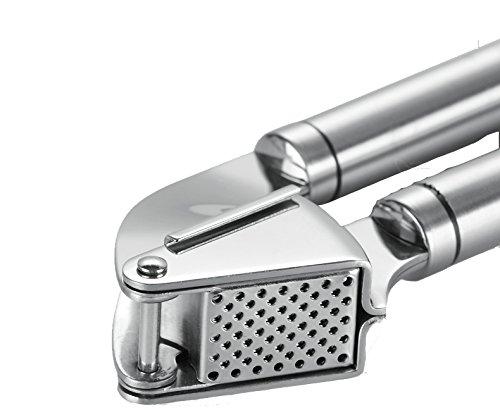 SLMT Garlic Press Stainless Steel Kitchen Tools Set Garlic Presses with Silicone Tube Roller Kitchen Peeler Set