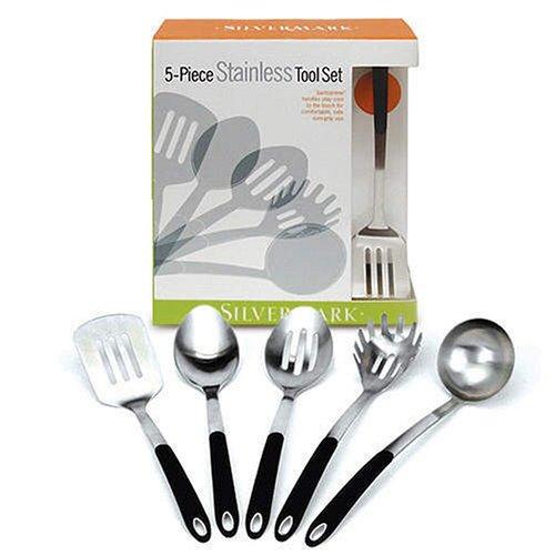 SilverMark 5 Piece Stainless Steel Kitchen Tool Set