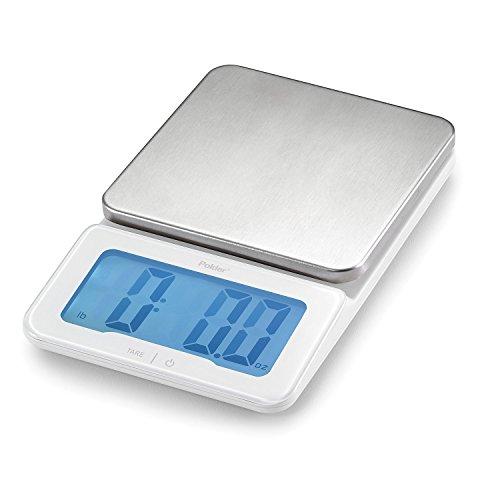 Polder KSC-940-90 Mini-Jumbo Digital Kitchen Scale with Backlit Display 11-Pound 5 kg Capacity
