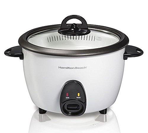 Hamilton Beach 37516 Rice Cooker Food Steamer White