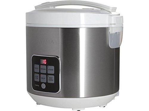 Tayama TRC-55HC 10 Cup Digital Rice Cooker Food Steamer White