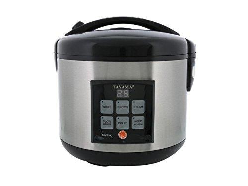 Tayama TRC-80 Digital Rice Cooker Food Steamer 8 Cup Black