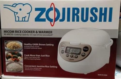 Zojirushi Micom Rice Cooker Warmer 55 Cups White Steamer NS-WSC10