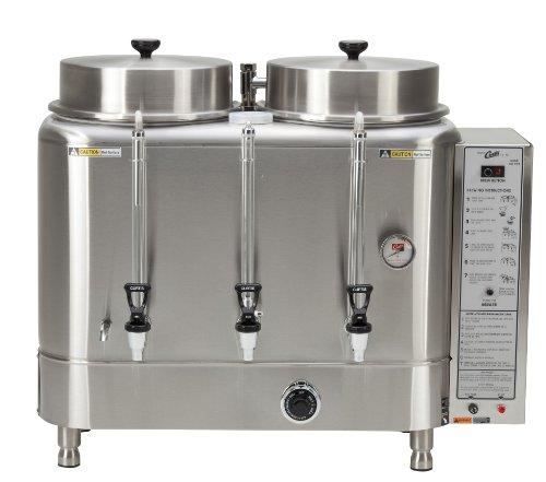 Wilbur Curtis Automatic Coffee Urn 60 Gallon Twin Coffee Brewer 1Ph 3WG 208220V 455A 10000W - Commercial-Grade Automatic Coffee Brewer - RU-600-12 Each