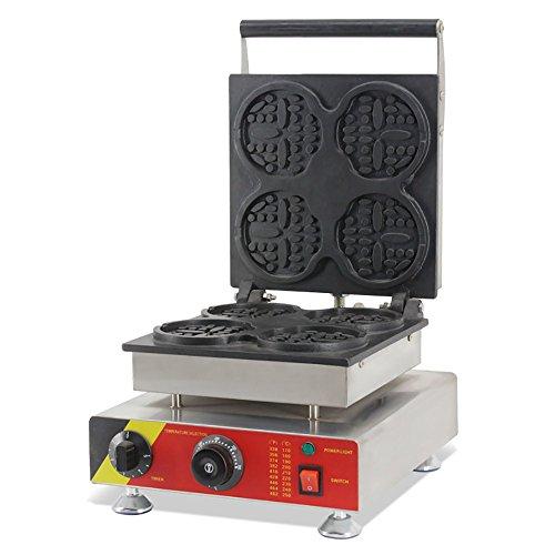 Commercial Nonstick 110V 220V Electric 4pcs Bear Waffle Stick Maker Iron Machine and Batter Dispenser 220V