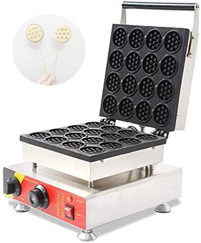 CGOLDENWALL NP-690 16pcs Mini Waffle Maker Round Waffle Stove Waffle Making Machine Non-stick Waffle Iron Baker 110V