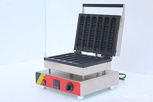 NP-608 Digital Thermostat Hot Dog Waffle Machine Commercial Hot Dog Waffle Baker 220V