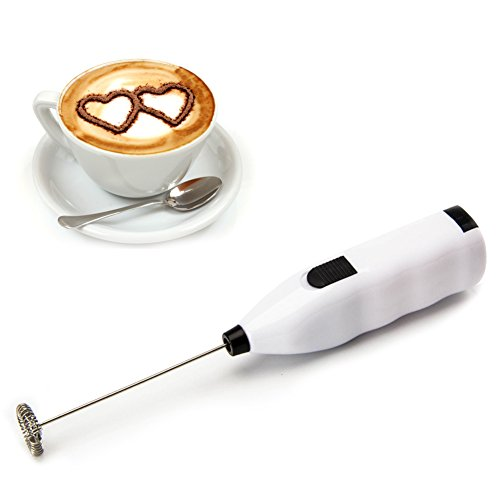 Handheld Electric Milk Frother Sunbeter Electric Drink Mixer Foam Maker for Latte Coffee Milk Cappuccino