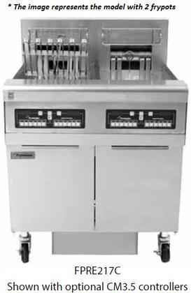Frymaster FPRE317 47 Re Series Energy Star Commercial Electric Fryer with Built In Filtration System Open Frypot Design Deep Cold Zone and Drain Safety Switch in Stainless