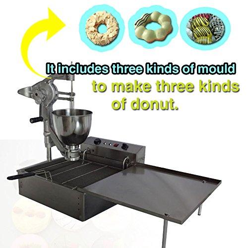 Yoli Commercial Manual Multifunctional Donut Machinestainless Steel Donut Makerdonut Fryerdonut Making Machinedonut Robotwider Oil Tankthree Size Molds