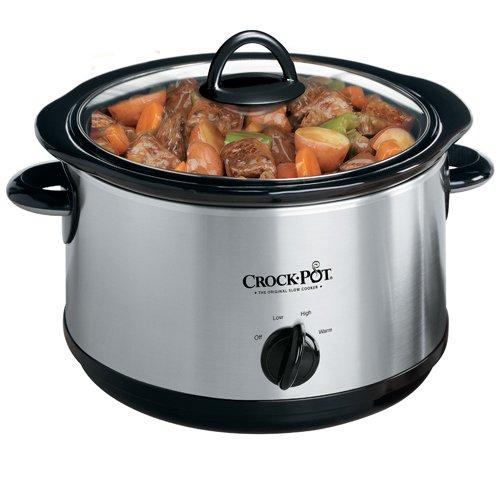 Crock-Pot Regular 5-Quart Round Manual Slow Cooker Stainless Steel