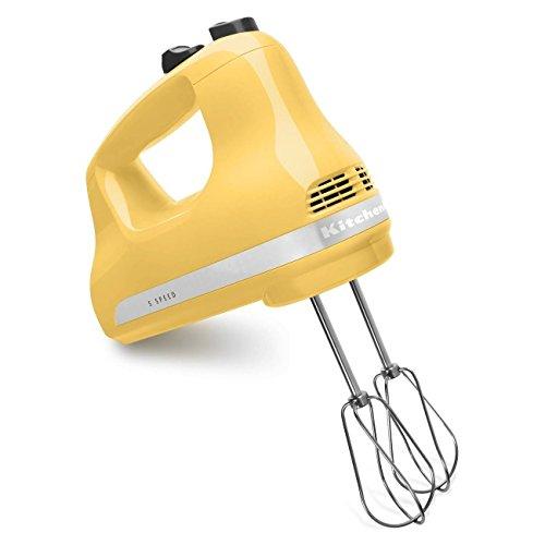 KitchenAid KHM53my 5-Speed Ultra Power Hand Mixer Majestic Yellow Renewed