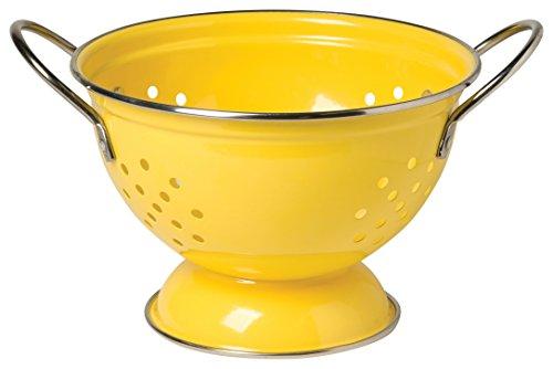 Now Designs Metal Colander, 1-quart, Lemon Yellow