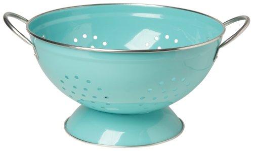 Now Designs Metal Colander, 3-quart, Turquoise
