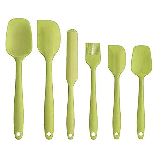 Ktyssp Spatula Set Silicone Nonstick Scraper Kitchen Baking Cooking 6 Piece New Green