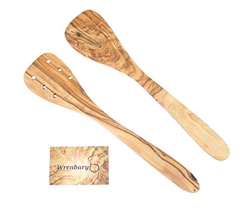 Wrenbury Set of 2 Olive Wood Spatulas