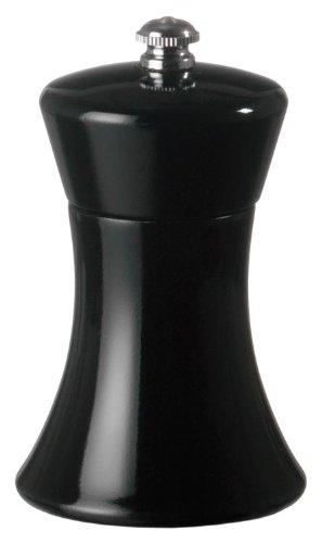 Fletchers Mill Sierra Pepper Mill Black - 4 Inch Adjustable Coarseness Fine to Coarse MADE IN USA