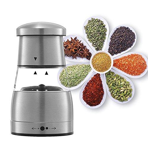 Cusfull Manual Pepper Grinder Stainless Steel Salt Shaker Mill Adjustable Spice Grinder 115 cm