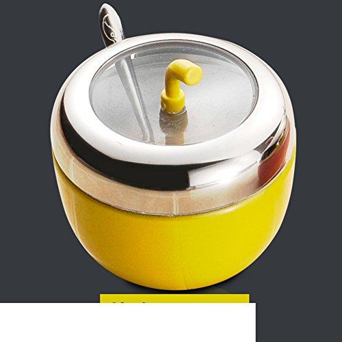 Kitchen spices seasoning box Spice Spice jar cruet set stainless steel salt shaker-A