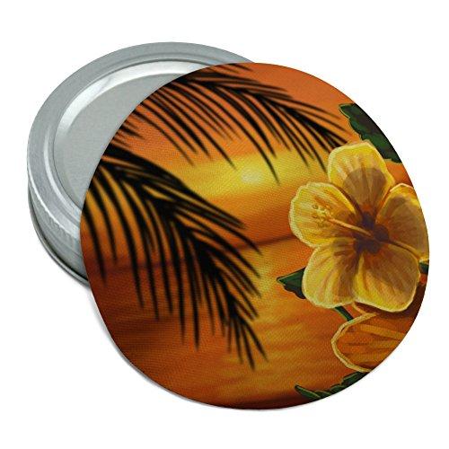 Beach Sunset Hibiscus Flower Hawaiian Round Rubber Non-Slip Jar Gripper Lid Opener