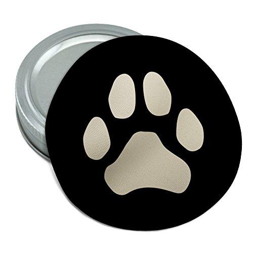 Paw Print Dog Cat White on Black Round Rubber Non-Slip Jar Gripper Lid Opener