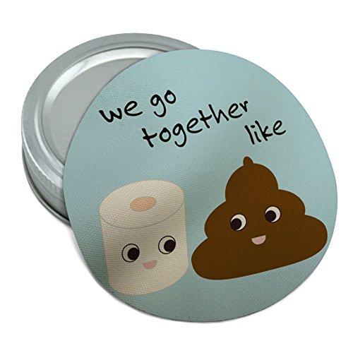 Poop Toilet Paper Funny Emoji Friends Round Rubber Non-Slip Jar Gripper Lid Opener