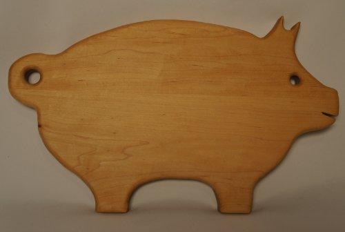 Martin Carts Hard Maple Wood Cutting Board Pig