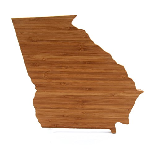 Cutting Board Company Georgia Shaped Cutting Board Bamboo Cheese Board