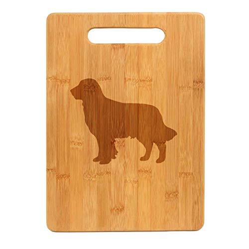 Bamboo Wood Cutting Board Golden Retriever