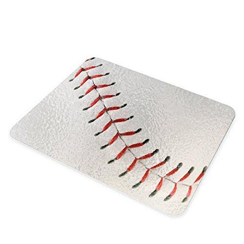 Baseball Stitch Decorative Glass Cutting Board