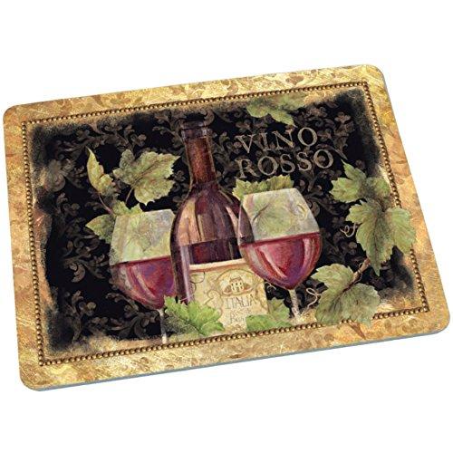 Decorative Glass Cutting Board Gilded Wine
