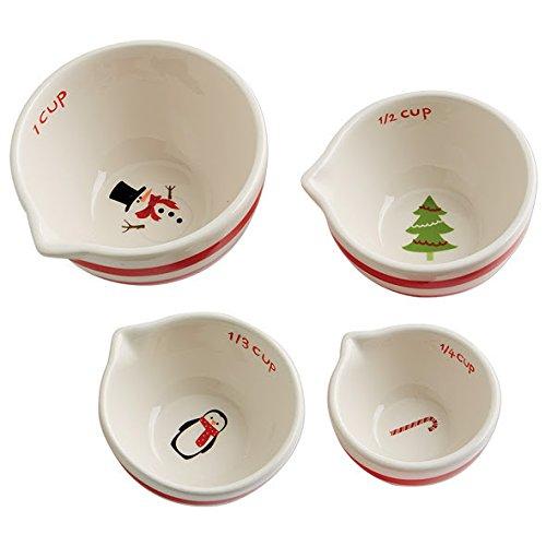 Set of 4 Ceramic Measuring Cups