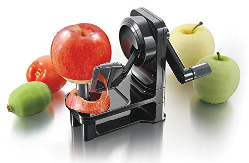 Simposh Multi-Peeler - Rotary Apple Peeler w Serrated Stainless Steel Blades safely quickly easily peels Apple Pears Kiwi Tomato Vegetables Fruits Adjusts to different skin peel variations